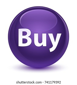 Buy isolated on glassy purple round button abstract illustration