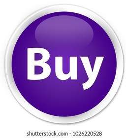 Buy isolated on premium purple round button abstract illustration