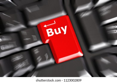 buy key on keyboard showing ecommerce or commerce concept