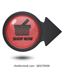 Buy now circular icon on white background