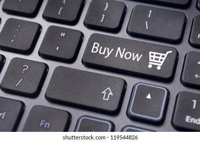 Buy now concepts, with message on computer keyboard.