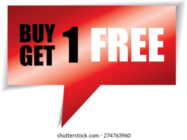 Buy one get one free  speech black square template, promotional sale.
