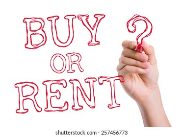 Buy or Rent written on wipe board