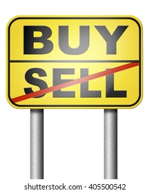 buy or sell stock exchange during recession crisis or business market rise