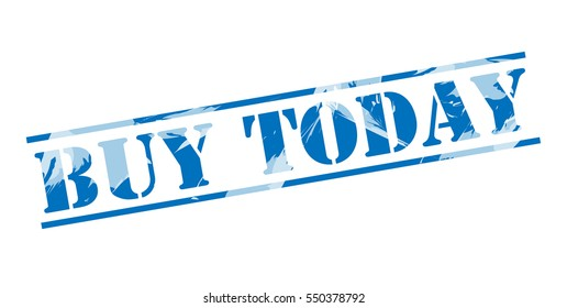 buy today blue stamp on white background