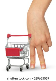 buyer concept,  hand with shopping cart