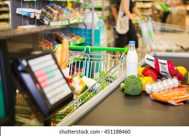 Buying products in supermarket