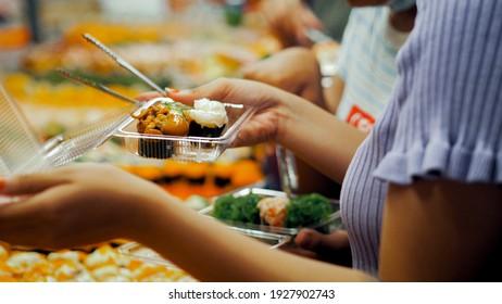 Buying sushi to take home