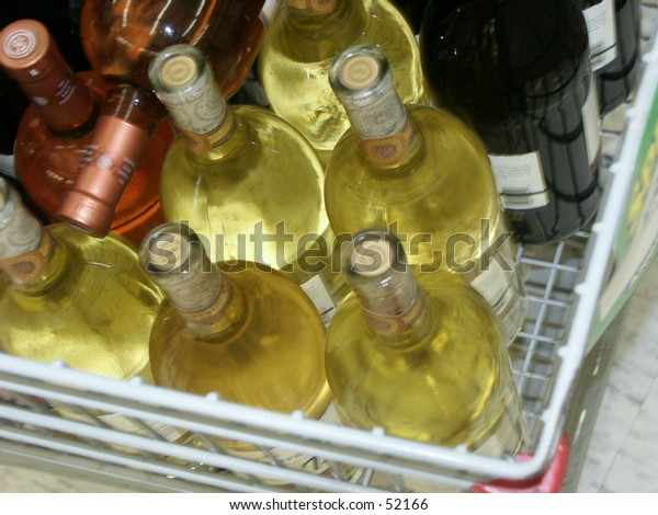 buying wine at the store for party