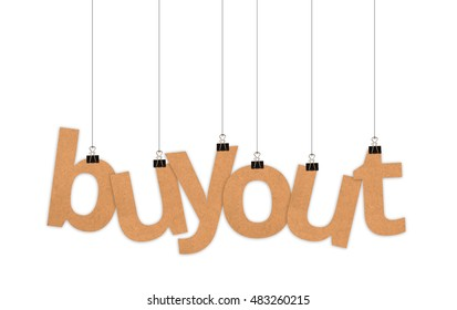 buyout speech word hanging with strings