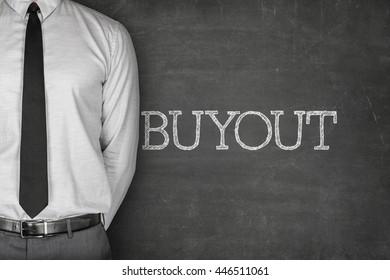 Buyout text on blackboard
