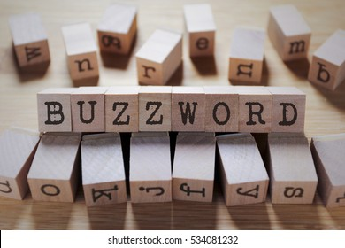 Buzzword Word In Wooden Cube