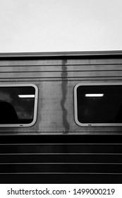 B/W - Black and White Train of Vietnamese Railroad, Vietnam