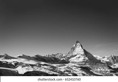 B&W Matterhorn and Sky