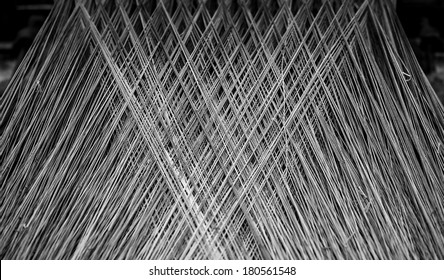 BW pattern from threads in an old spinnery