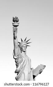 BW Statue of liberty imitation