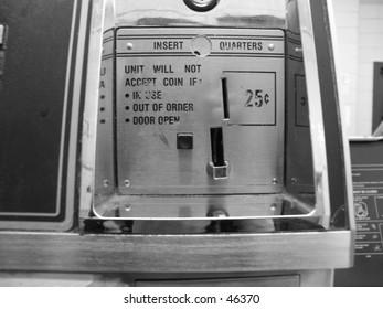 ( B&W ) Washer Coin Slot