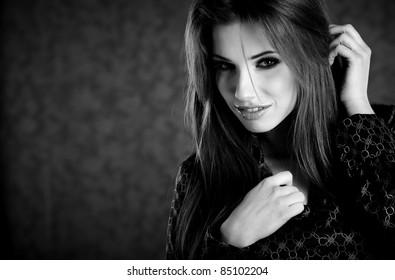 B/W woman portrait