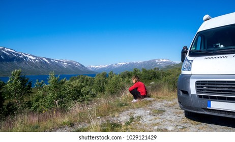 by motorhome through Norway - on the way to Lom