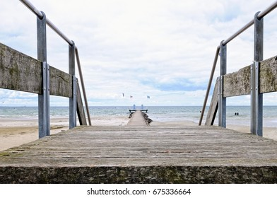 by the Steiner Bridge to Steiner pier in Stein on the Baltic Sea Germany