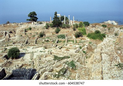BYBLOS, LEBANON - JULY 21: Ruins on 21 July, 2001 at Byblos. Byblos is an ancient Phoenician - Roman - medieval town.
