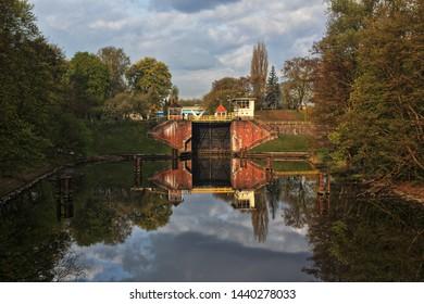 Bydgoszcz city water lock the Okole