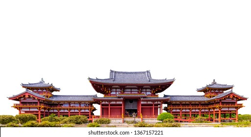 Byodo in Temple (Japan) isolated on white background