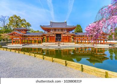 Byodo-in Temple, Uji, Kyoto, Japan in spring season.