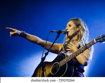 BYRON BAY, AUSTRALIA - APRIL 17 :Kasey Chambers plays on the Crossroads stage at the 2017 Byron Bay Bluesfest. 28th annual Blues and Roots festival.