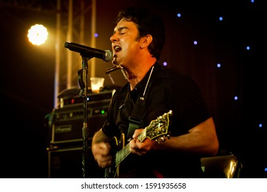 BYRON BAY, AUSTRALIA - APRIL 2 : G.Love & Special Sauce play on the  Delta stage at the 2015 Byron Bay Bluesfest. 26th annual Blues and Roots festival.