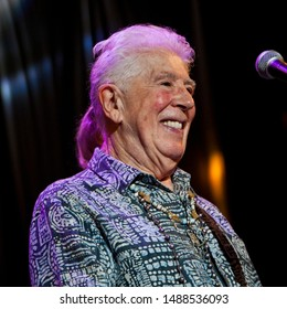 BYRON BAY, AUSTRALIA - APRIL 4 2015 : John Mayall plays on the Crossroads stage at the 2015 Byron Bay Bluesfest. 26th annual Blues and Roots festival.