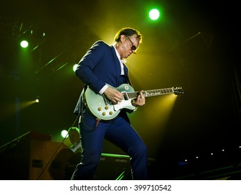 BYRON BAY, AUSTRALIA - MARCH 26 : Joe Bonamassa plays on the Crossroads stage at the 2016 Byron Bay Bluesfest. 27th annual Blues and Roots festival.