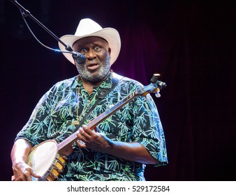 BYRON BAY, AUSTRALIA - MARCH 27 :Taj Mahal plays on the Jambalaya stage at the 2016 Byron Bay Bluesfest. 27th annual Blues and Roots festival.