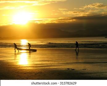 Byron Bay Beach Sunset Australia - Kayaks