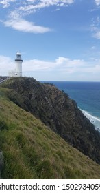 """Byron Bay, NSW/Australia - October 8, 2018: Lighthouse """"Cape Byron Light"""" at the most easterly point of the Australian mainland."""