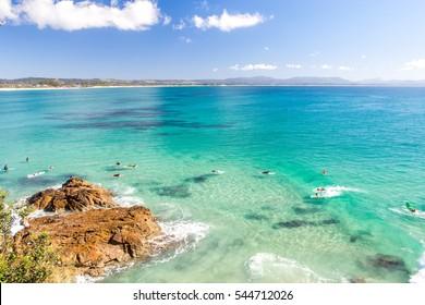 Byron Bay on a clear day
