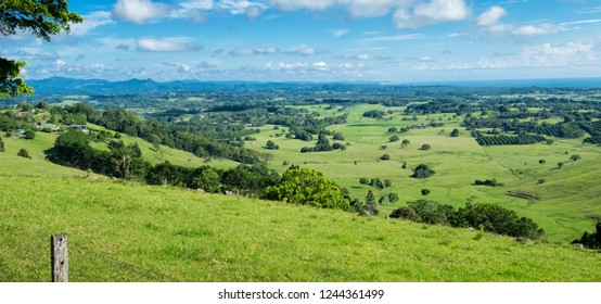 Byron Shire landscape in the summer. In Australia.