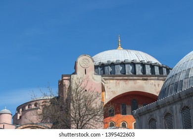 Byzantine architecture of the Hagia Sophia (The Church of the Holy Wisdom or Ayasofya in Turkish)