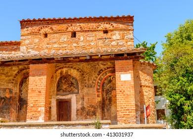 Byzantine Church of Taxiarchis Mitropoleos in Kastoria, West Macedonia, Greece