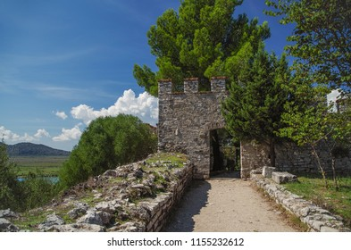 Byzantine fortress. Buthrotum - antique city. Ancient Greek and later Roman, Byzantine and Venetian city. Butrint National Park. UNESCO World Heritage site. Albania, Vlora County, near Saranda