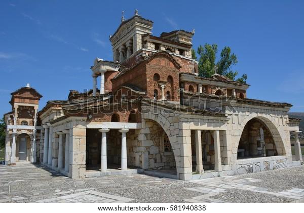 Byzantine like church Agia Foteinini in Mantineia, Greece
