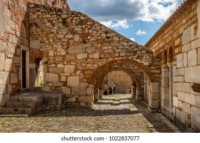 At the byzantine monastery of Hosios Loukas, in Central Greece, an UNESCO World Heritage Site. - Shutterstock ID 1022837077