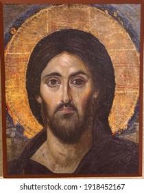 Byzantine Pantocrator St. Catherine's Monastery Sinai