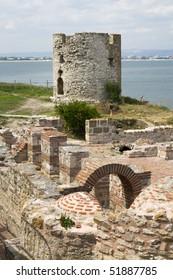 Byzantine ruins in Nessebar, Bulgaria