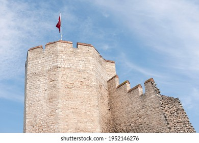 The Byzantine-era city walls of Istanbul (then Constantinople), built by Emperor Theodosius.