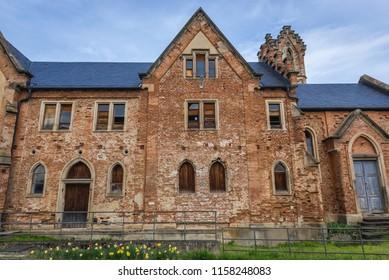 Bzenec, Czech Republic - April 15, 2018: Bzenec Castle in Moravia region of Czech Republic
