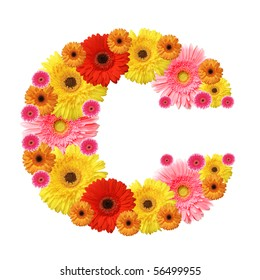 c, flower alphabet