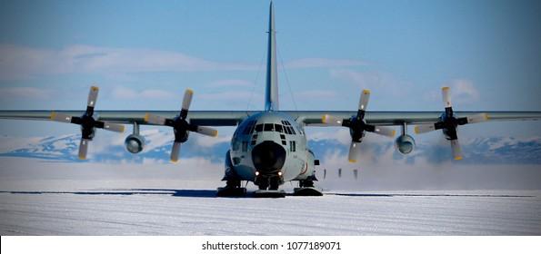 c130 at Mcmurdo, Antarctica