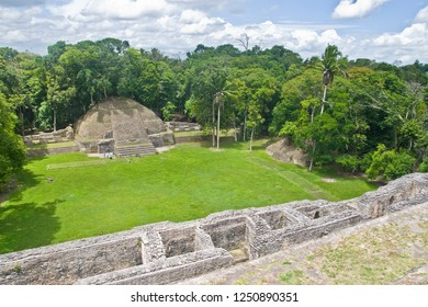 Caana pyramid at Caracol archeological site of Mayan civilization in Belize