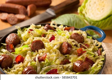 Cabbage Casserole with Sausage